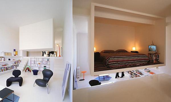 gemütliches schlafzimmer design im dachgeschoss minimalistisch