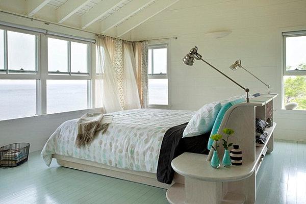 Schlafzimmer ideen modern blau  20 Ideen für modern gemalten Bodenbelag zu Hause