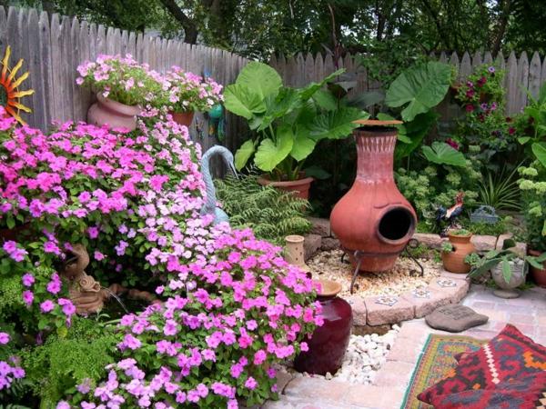 gestalten sie schönen garten bunte blumen blüten dekoration zaun