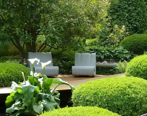 Pin Gestalten Sie Schönen Garten Sitzplatz Wohnbereich Freien Bequem ...
