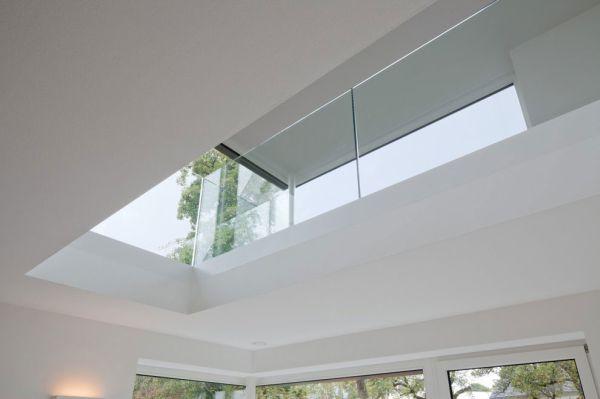 glasdach fenster idee weiß minimalistisch