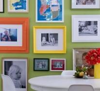 29 kunstvolle Wandgestaltung Ideen – Wand Dekoration mit Bildern