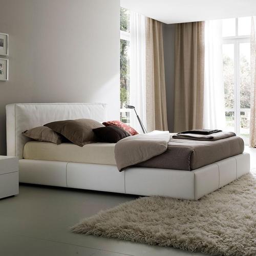 große attraktive plattform betten rossetto weiß gepolstert