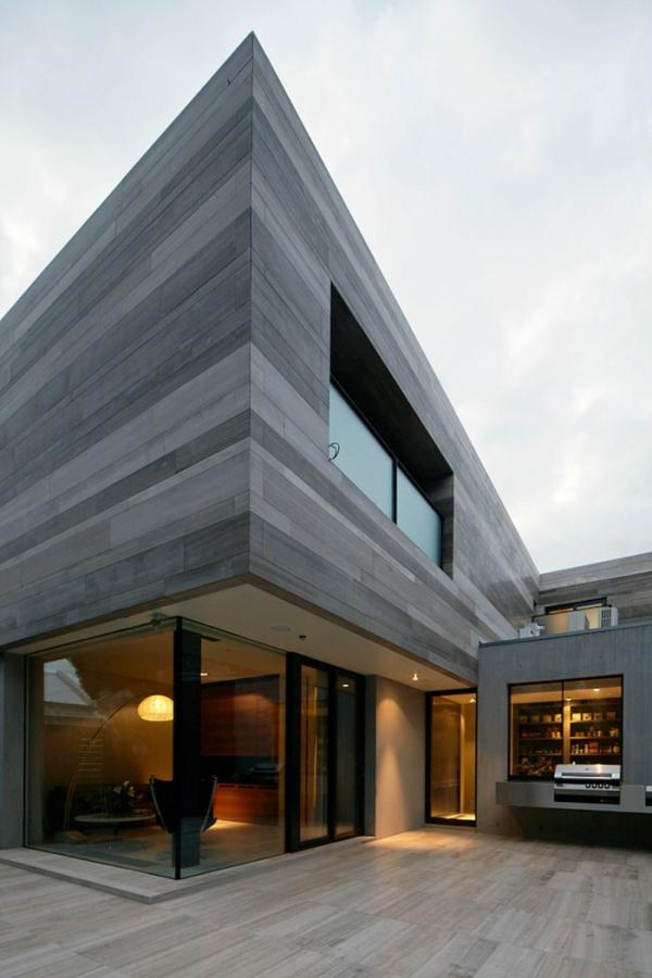 ^ - Großes modernes Haus in Melbourne, ustralien von b.e. architecture