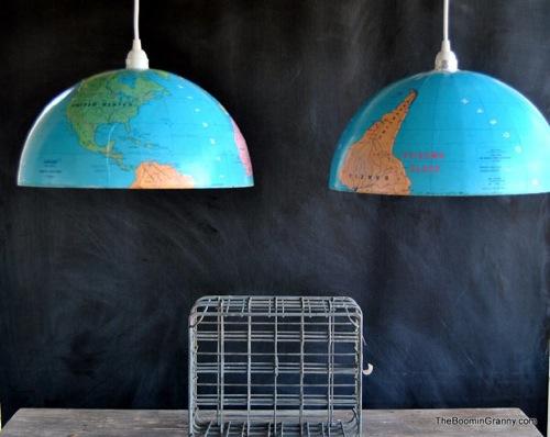hängenlampen aus recycelten Gegenständen gefertigt boomin granny