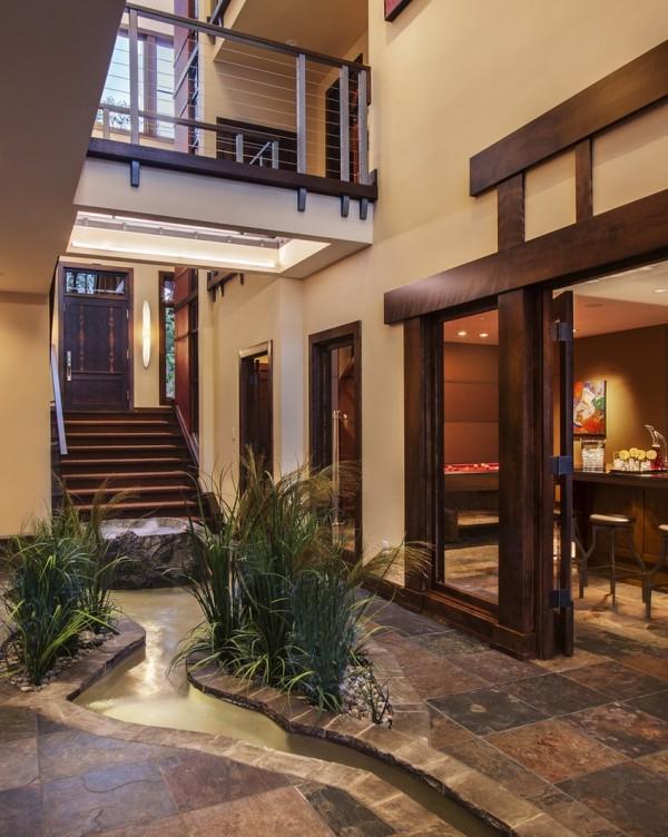 20 haus designs mit indoor wasser garten eigene oase zu hause. Black Bedroom Furniture Sets. Home Design Ideas