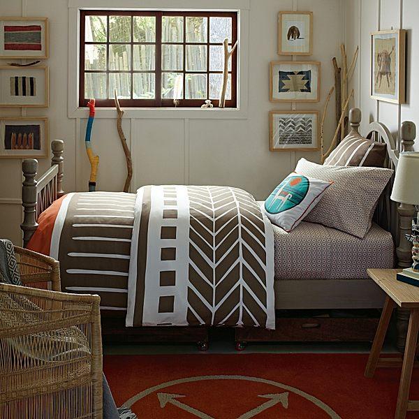 herbstliche Bettwäsche Designs im Schlafzimmer idee originell interessant