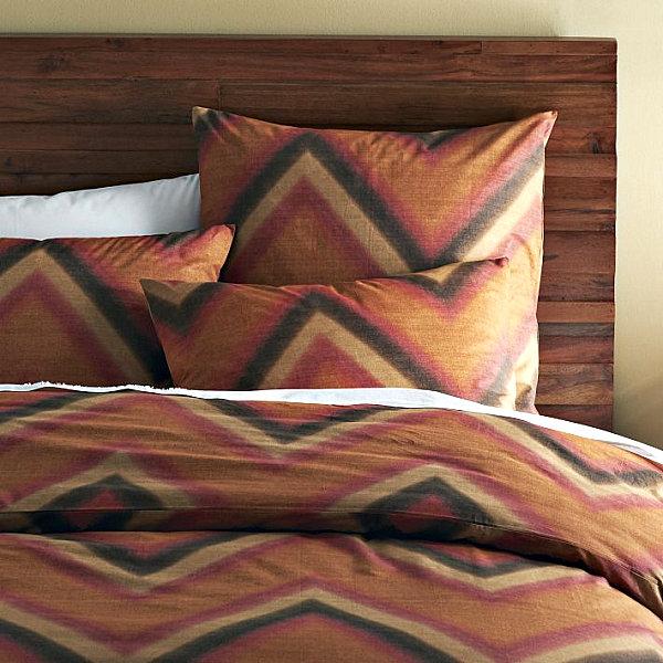 herbstliche Bettwäsche Designs im Schlafzimmer dunkle muster