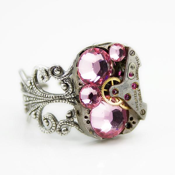 herrlicher juwelier schmuck ring pink rosa kristall swarovski