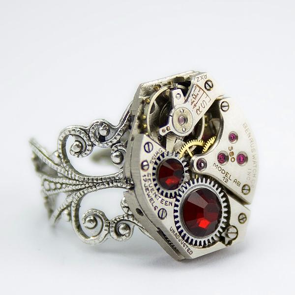 herrlicher juwelier schmuck ring rot zirkon