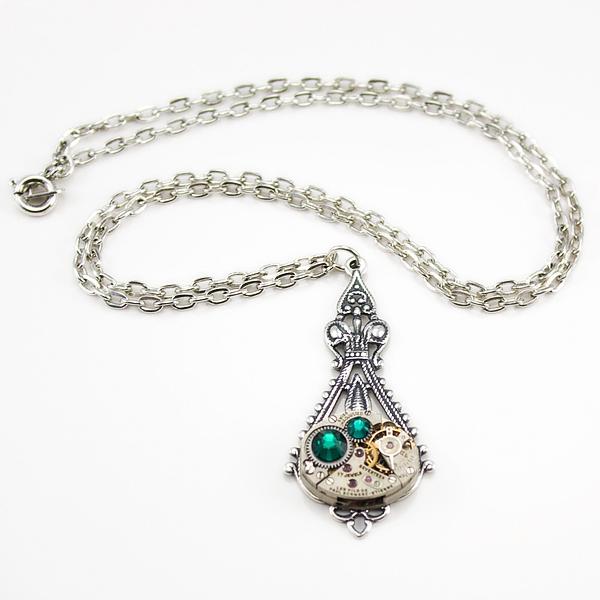 herrlicher juwelier schmuck schmetterling kette grün zirkon