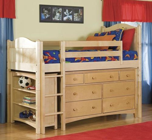 kinder hochbett mit schreibtisch und lagerschr nken. Black Bedroom Furniture Sets. Home Design Ideas