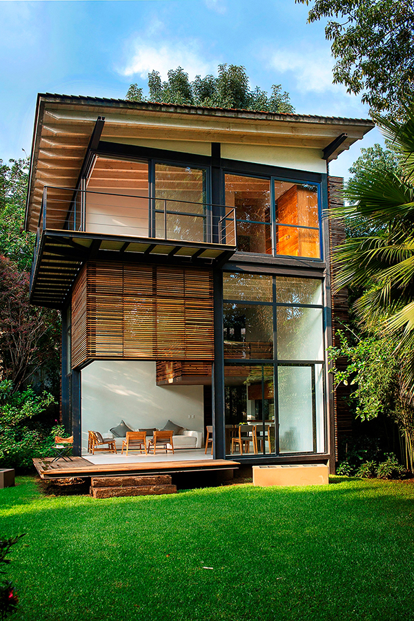 Design holzhaus  4 Holzhaus Designs mit privatem Garten in Mexiko - ruhige Umgebung