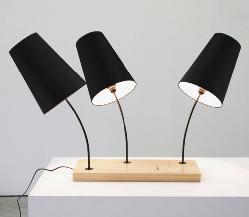 indirekte designer beleuchtung holzplatte tischlampen goncalo campos