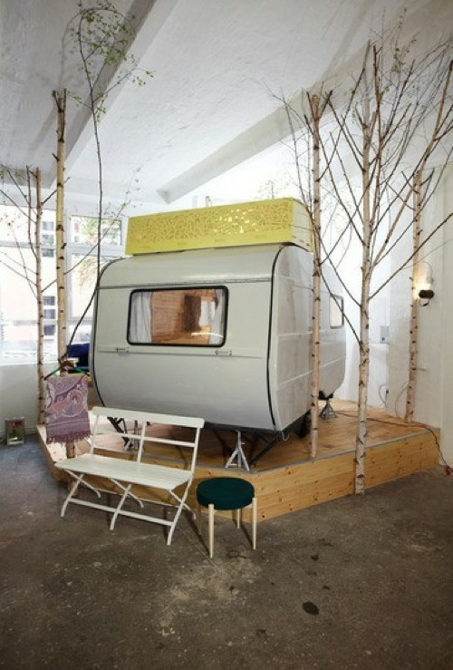 indoor zelt camping idee originell funktional