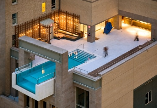 interessante schwimmbad designs penthaus joule in dallas