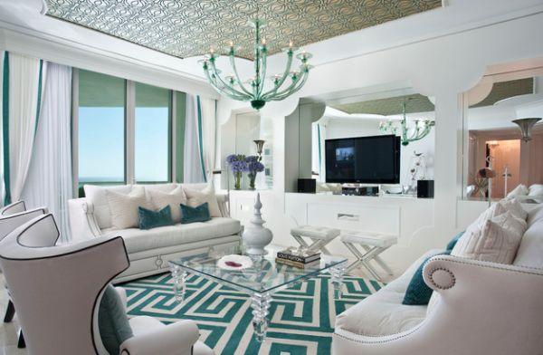 Wohnzimmer Türkis Schwarz: Wände streichen ideen für das ...