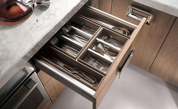 Küchen Möbel Aus Walnuss Holz Idee Designer Gabel Löffel