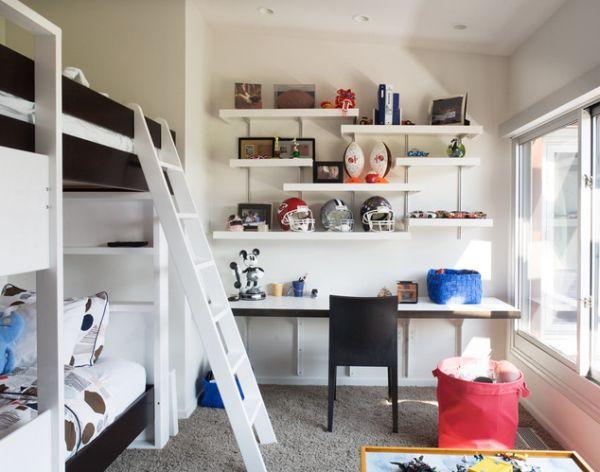 kinder schreibtisch designs eingebaut wand leiter etagenbett