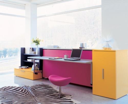 klappen möbel designs tisch schreiben büro bunt