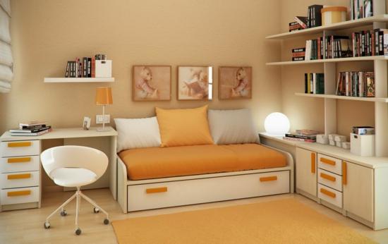 design : kleine wohnzimmer farblich gestalten ~ inspirierende ... - Wohnzimmer Gestalten Orange