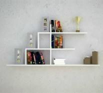Kreative Ideen für Bücher Aufbewahrung – originelles Hausbibliothek Design