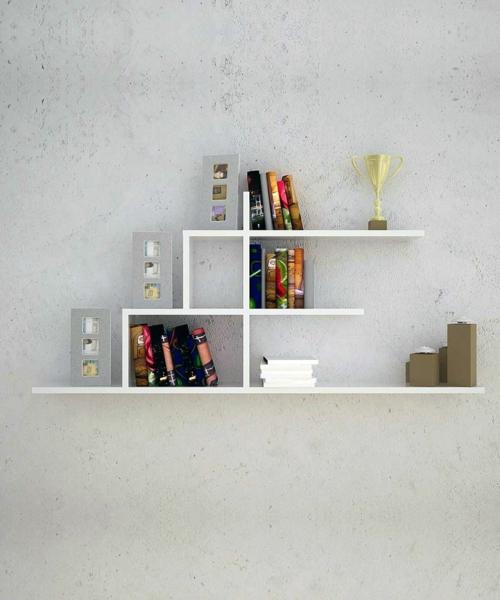 kreative bücher aufbewahrung idee hängen design minimalistisch
