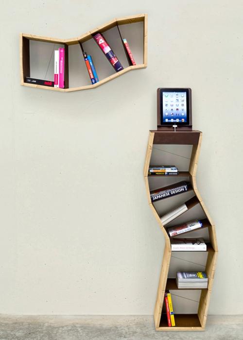 kreative bücher aufbewahrung idee hängen design regale