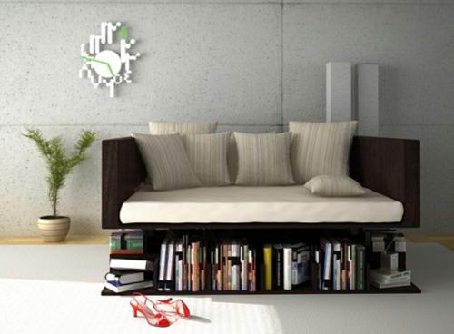 kreative bücher aufbewahrung idee sitzbank leseecke