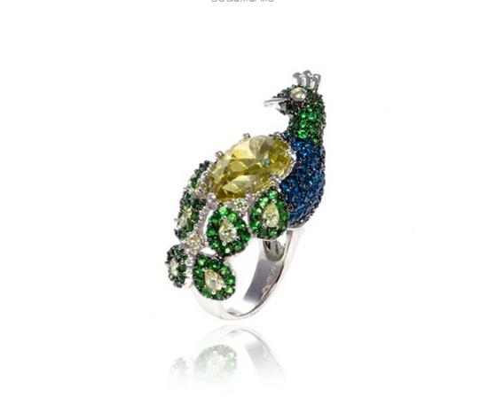 Juwelier Schmuck von nOir Jewelry designer originell dunkel elegant idee pfau