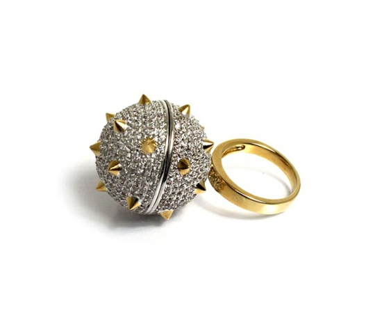 kreative luxus ringe designer originell dunkel elegant kugel