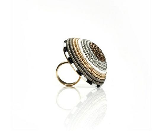 kreative luxus ringe designer originell dunkel perlen