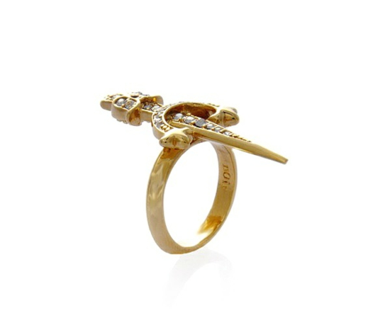 Juwelier Schmuck von nOir Jewelry designer originell dunkel vergoldet