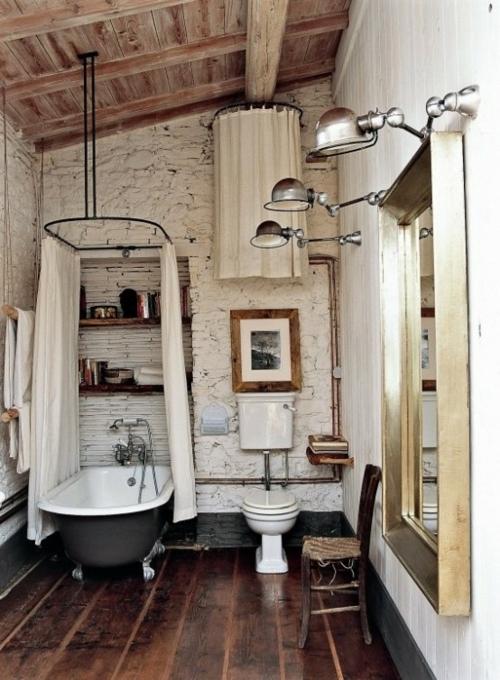 ländliche badezimmer design ideen rustikal interior holz badewanne