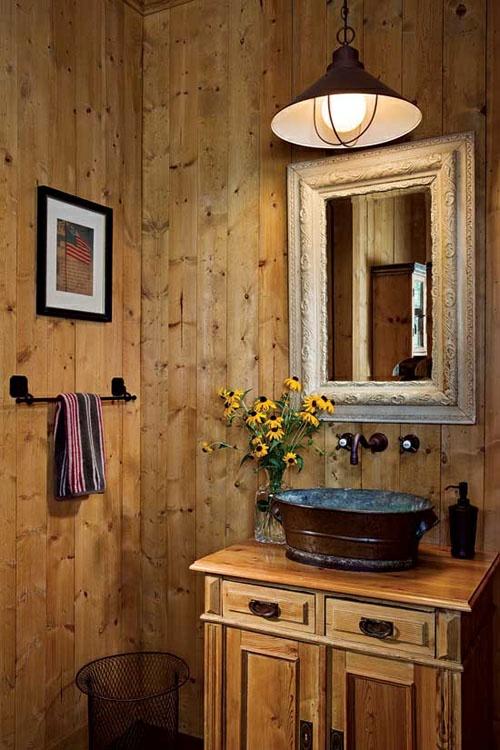 ländliche badezimmer design ideen rustikal interior holz