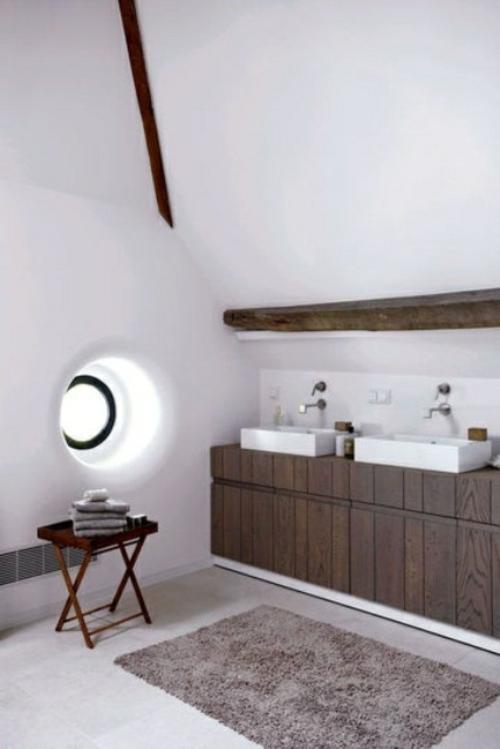 ländliche badezimmer design ideen rustikal weiß wände