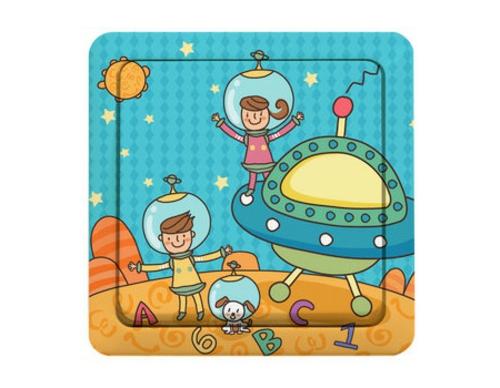 lustige gedruckte lichtschalter im kinderzimmer weltall