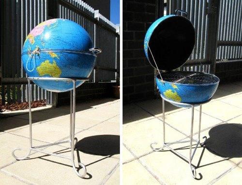 lustige praktische barbecue erdkugel originell