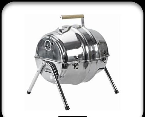 lustige praktische barbecue grills metallisch barrel