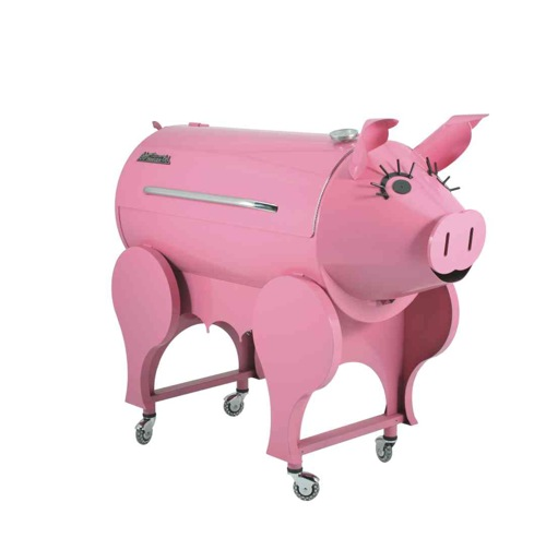 skurrile praktische barbecue grills rosa schwein