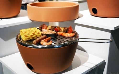 lustige praktische barbecue pflanzen behälter