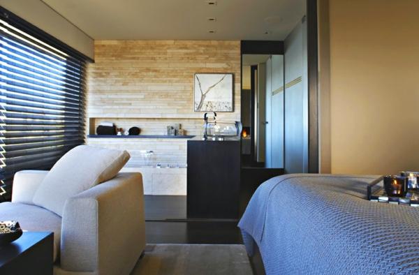 luxus apartment in kalifornien mit panorama fenstern holz wand