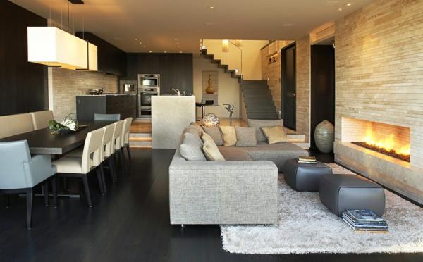 luxus apartment in kalifornien mit panorama fenstern wohnzimmer