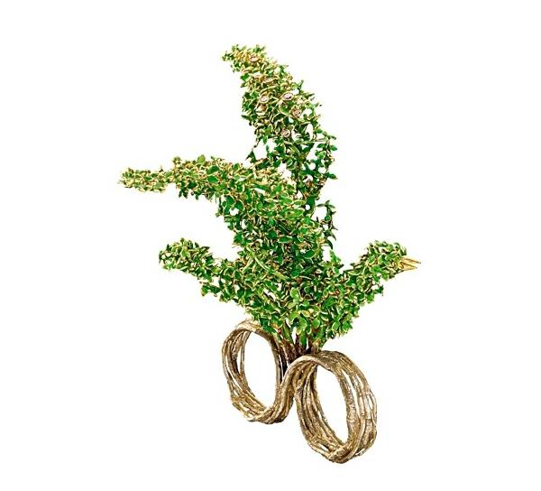 luxus schmuck sammlung alice wunderland grün vogel