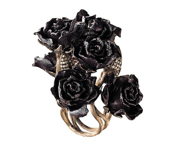 luxus schmuck sammlung alice wunderland schwarz rosen ring