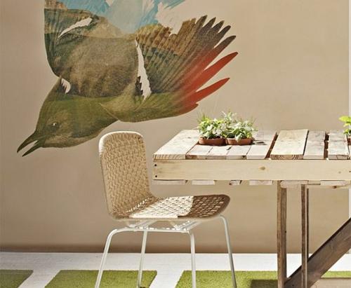 möbel aus holz paletten sachlich esszimmer design stuhl