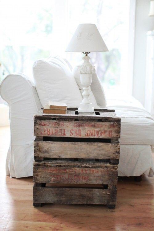 möbel aus holz paletten tischplatte rustikale minimalistisch