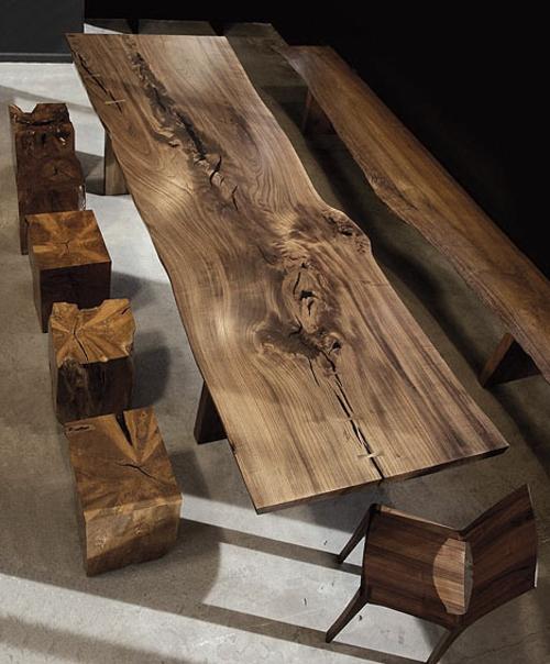 Designermöbel holz  10 Möbel Designs aus antikem Holz - rustikaler Stil