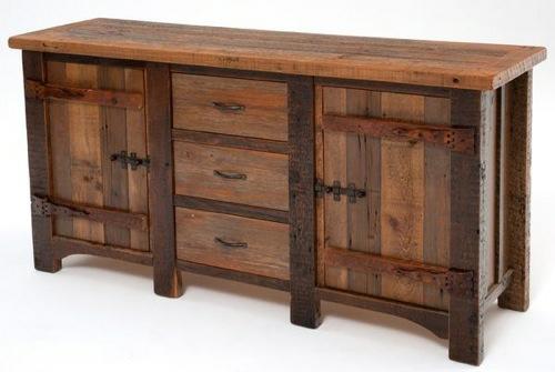 Möbel aus holz  10 Möbel Designs aus antikem Holz - rustikaler Stil