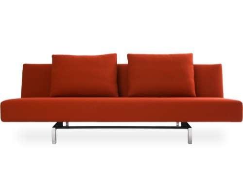 möbel  im dachgeschoss sofa kissen rot designs